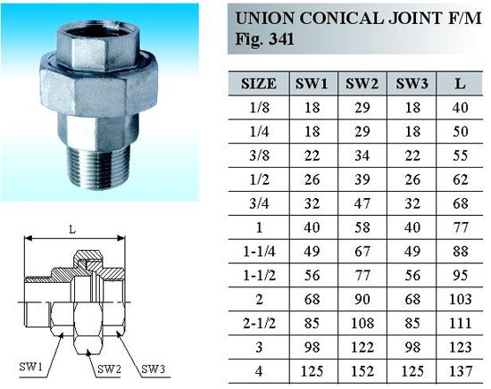 Union Conical Joint Hebei Cangzhou Pipe Fitting