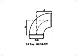 carbon steel pipe fitting - 90 deg elbow